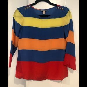 J Crew Rainbow Striped Blouse ❤️ 00